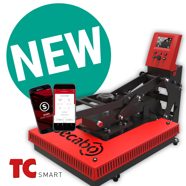 Weltneuheit auf dem Transferpressen-Markt: Secabo TC SMART Serie mit Bluetooth Transfer-App!