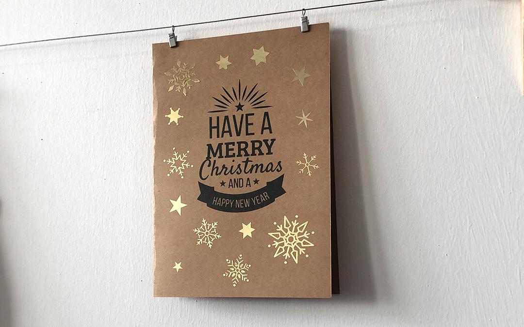 Weihnachten steht vor der Tür, grüßen Sie ganz persönlich mit einer kreativen Karte