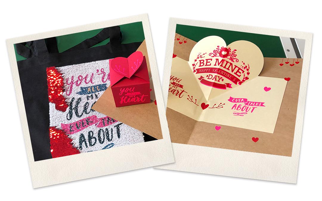 Nicht nur für den Valentinstag: Karte & Verpackung – Mal was anderes als Rosen…!